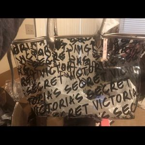 Victoria's secret clear tote large New!